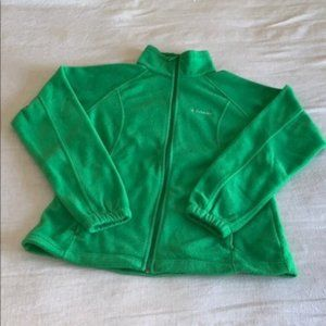 Columbia Kelly Green Fleece Zip Front Jacket M